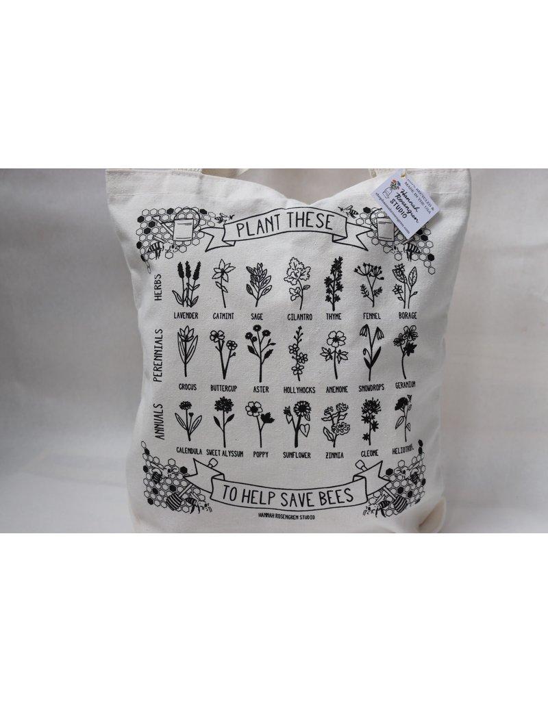 Canvas Tote w/ Zipper - Plant tote