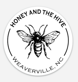 "3"" Round Bee H+H Sticker"