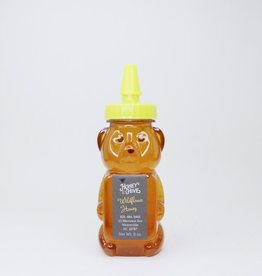 Honey & the Hive Wildflower Honey  8 oz Bear