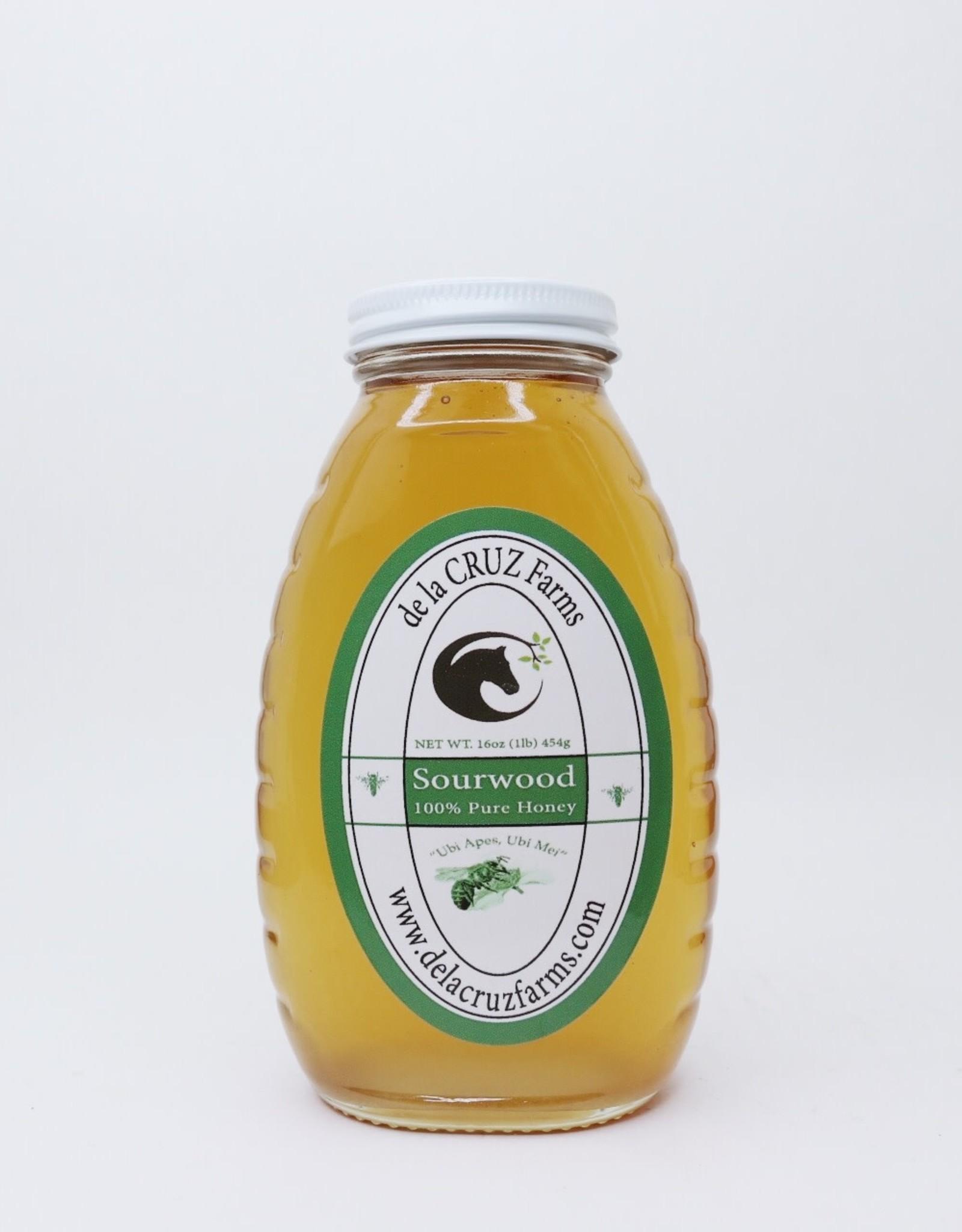 Sourwood Honey, 1 lb De La Cruz Farms