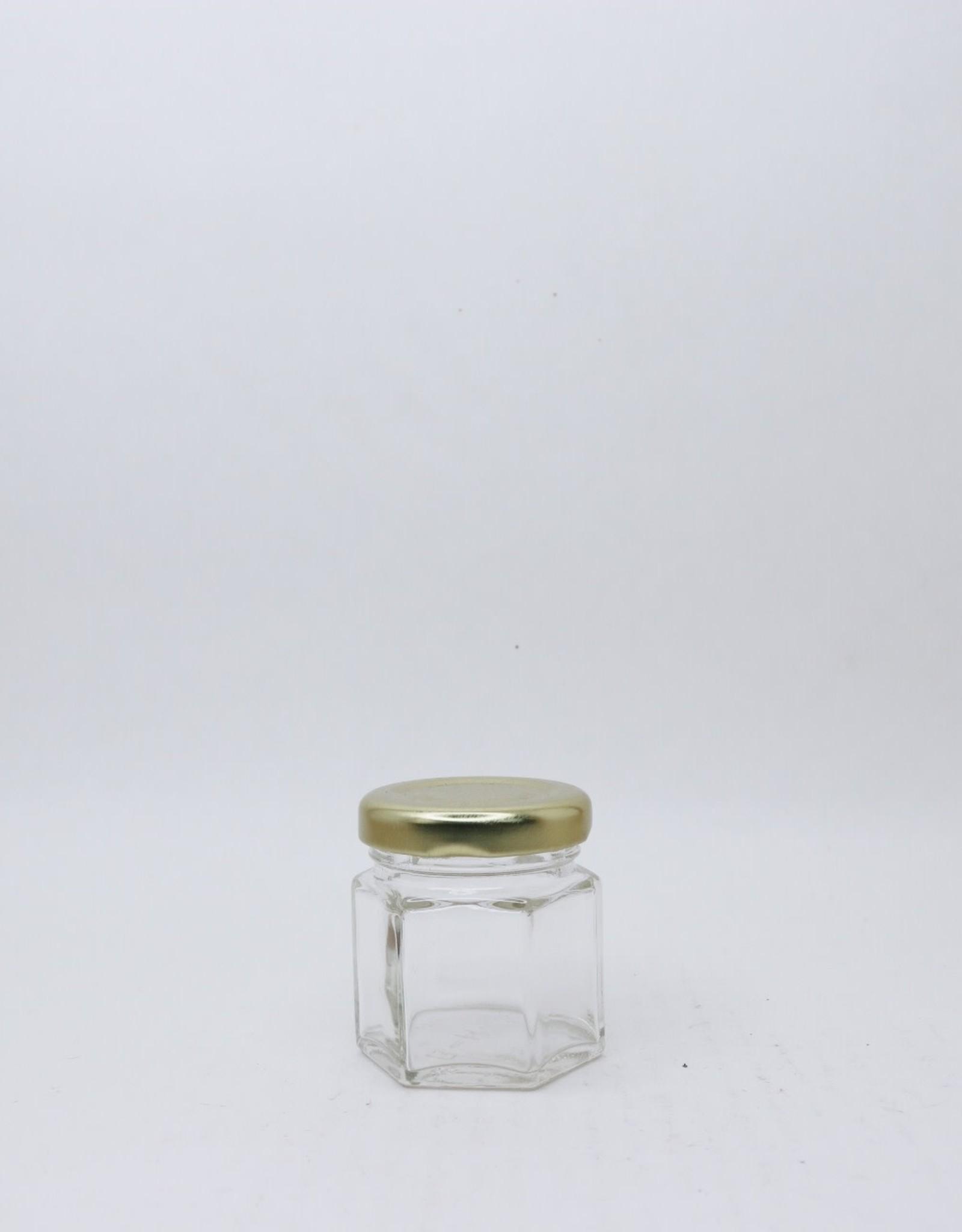 45 mL Hexagon Jars, case of 24