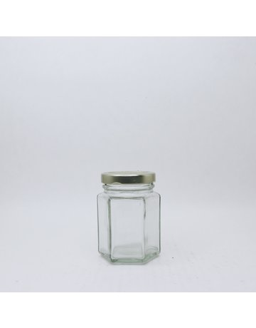 110 mL Hexagon Jars, case of 12