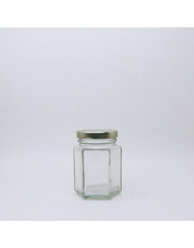 110 mL Hexagon Jars, case of 12