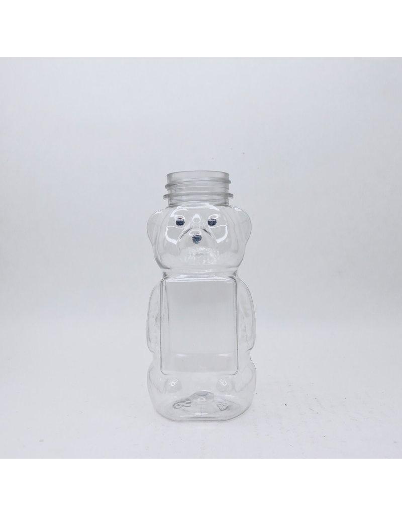 12 oz. Flat Front Plastic Bear, single