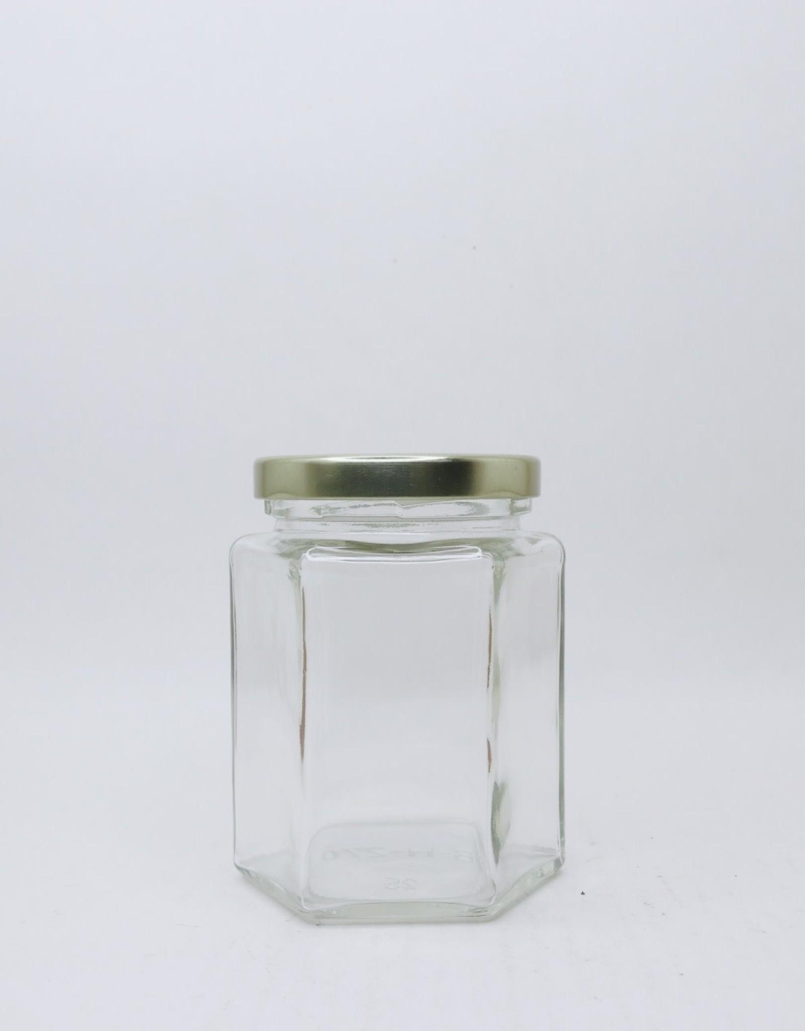 190 mL Hexagon Jars, Case of 12