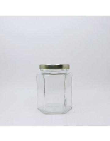 270 mL Hexagon 270 Jars, Case of 12