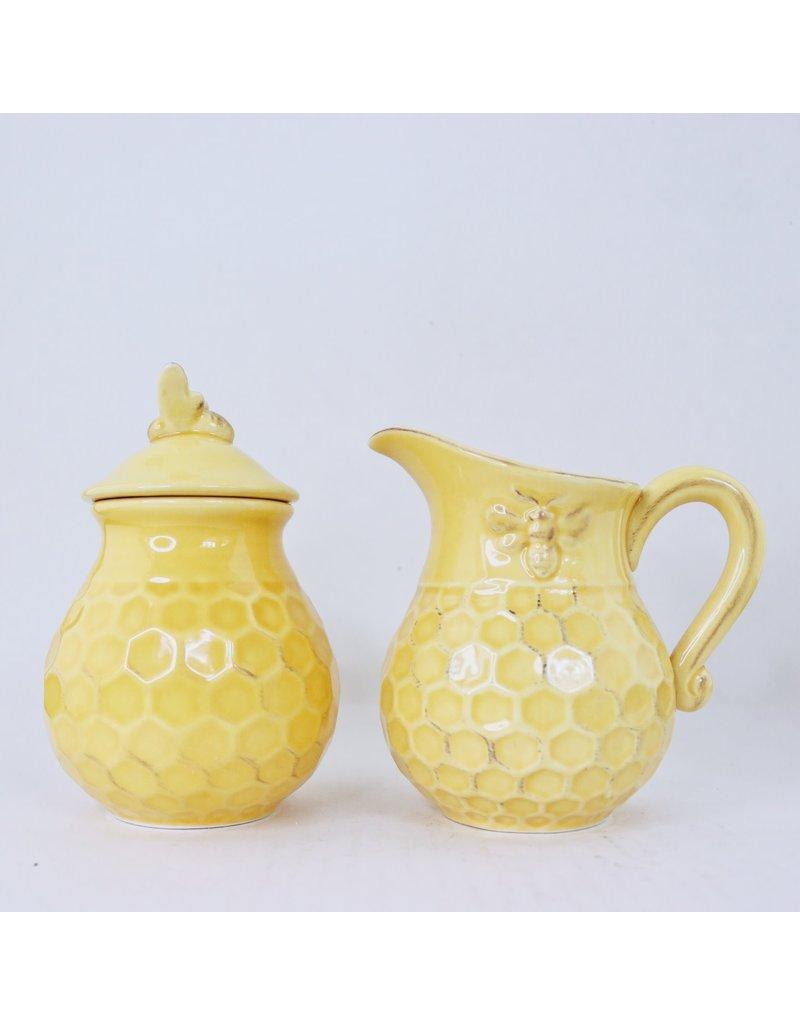 Honeycomb Cream & Sugar Set