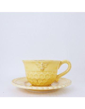 Honeycomb Teacup & Saucer