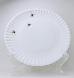 "Melamine Bee Plate, 9"""