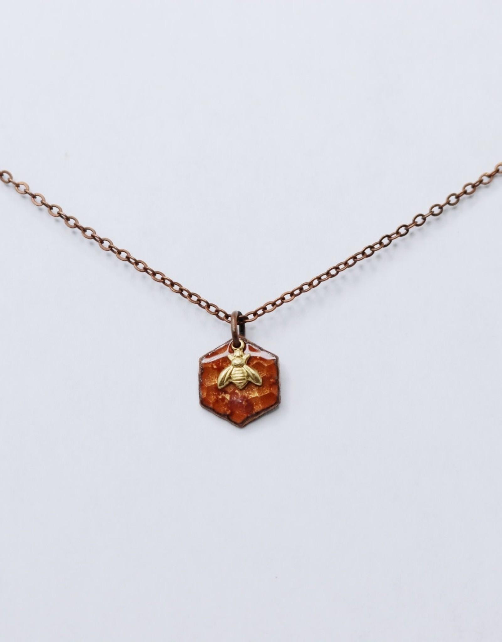 Small Hexagon Necklace