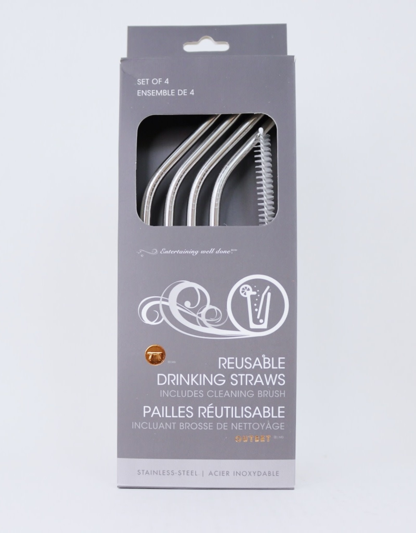 Stainless Steel Straws (Pack of 4)