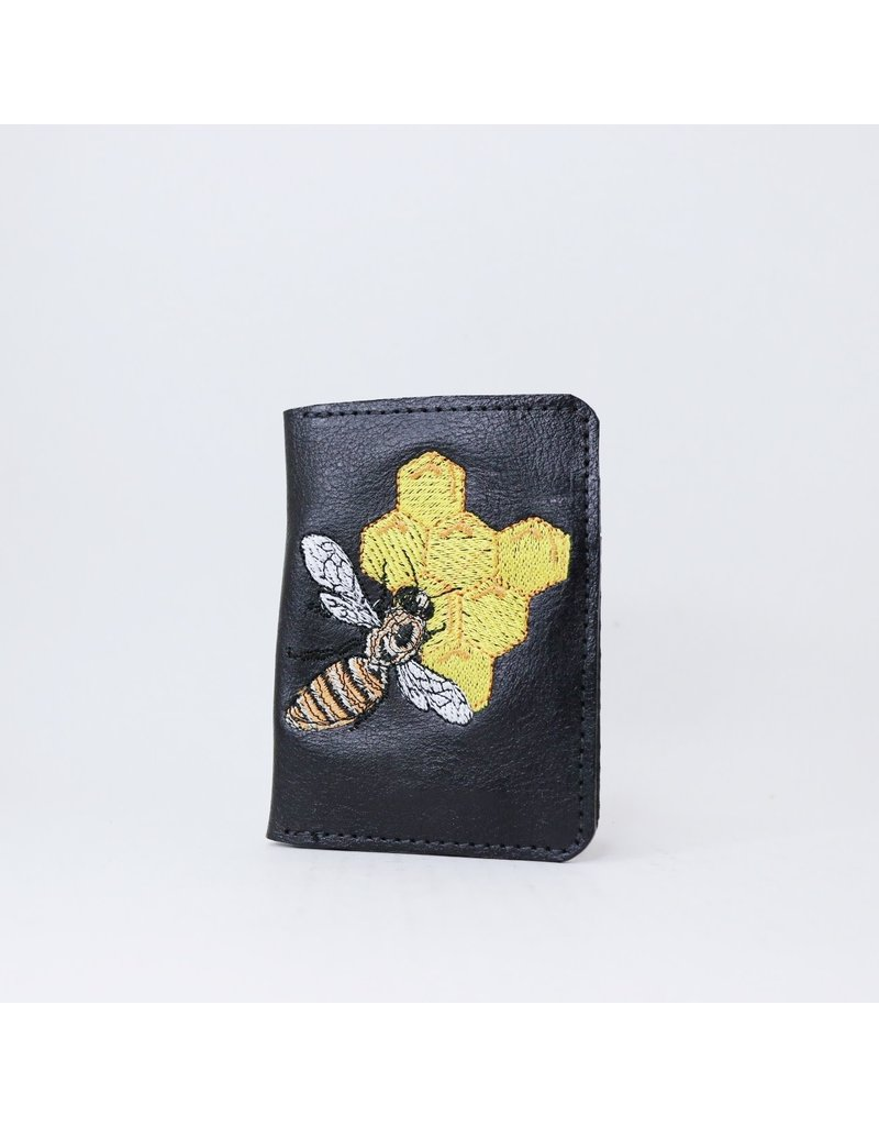 Leather Bee Wallet - Large Bifold