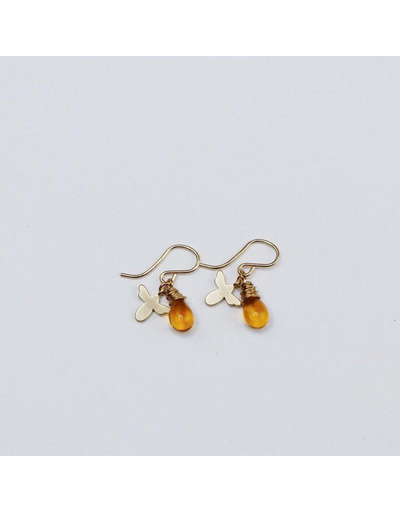 Small Honey Drop Earrings