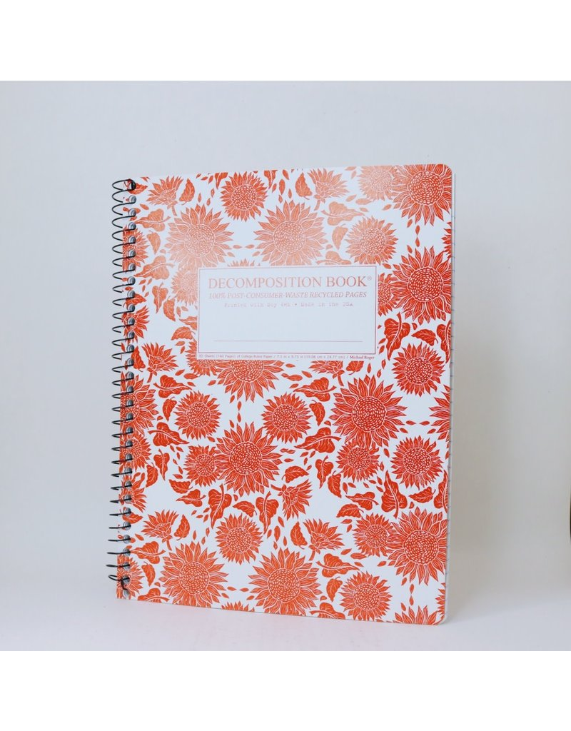 Sunflower Decomposition Notebook Large