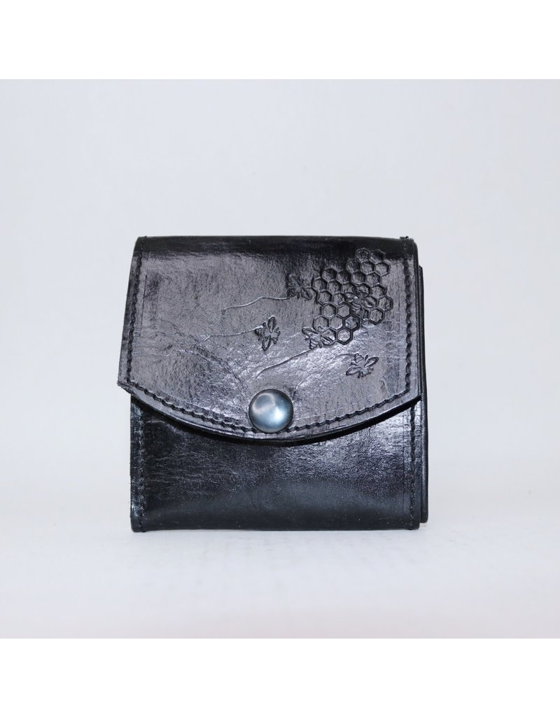 Leather Bee Wallet - Trifold with Snap