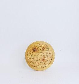 Small Wooden Bee & Sunflower Art