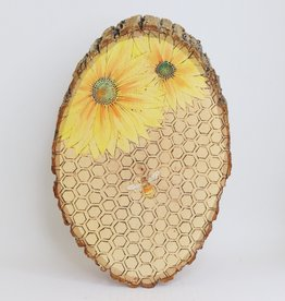 Wooden Sunflower Art, Large