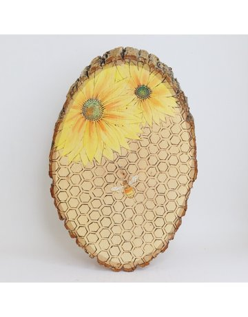 Wooden Sunflower Art, Large