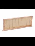 *Medium Frame, Assembled w/ Wax Foundation