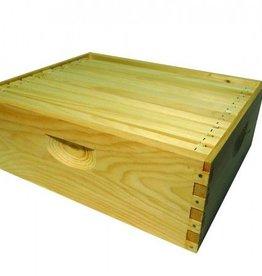 *8-Frame, Shallow Super, 8-Frame, Assembled w/ Frames & Wax Foundation, Complete