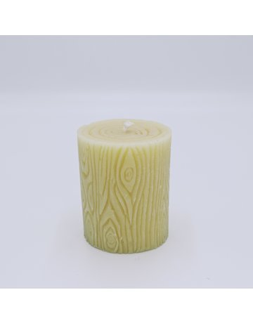 Beeswax Wood Stump Candle