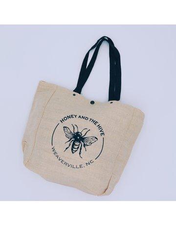Honey and the Hive Jute Tote Bag