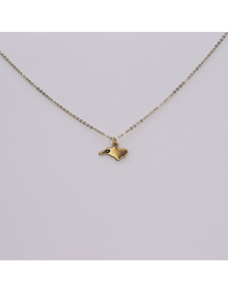 Brass Stamped NC Necklace