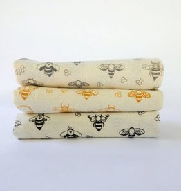 High Fiber Tea Towel with Bee Pattern