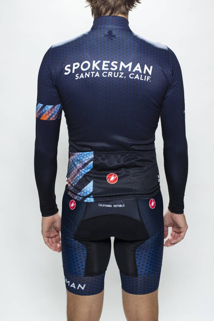 Spokesman Bicycles Spokesman Long Sleeve Jersey Navy Fade