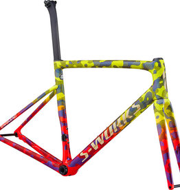 Specialized Specialized S-Works Tarmac Disc Frameset Team Yellow/Rocket Red/Tarmac Black/Chameleon/Gold Foil 56
