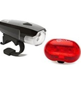 PDW Portland Design Works Spaceship 3 Headlight and Red Planet Taillight Set