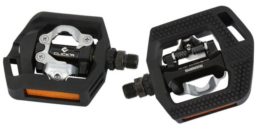 Shimano Shimano PD-T421 Black Dual Sided Platform Pedal Click'R SPD