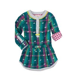 Hatley Hatley Winter Fox Bonded Plaid Dress