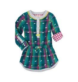 Hatley Hatley Winter Fox Bonded Plaid Dress