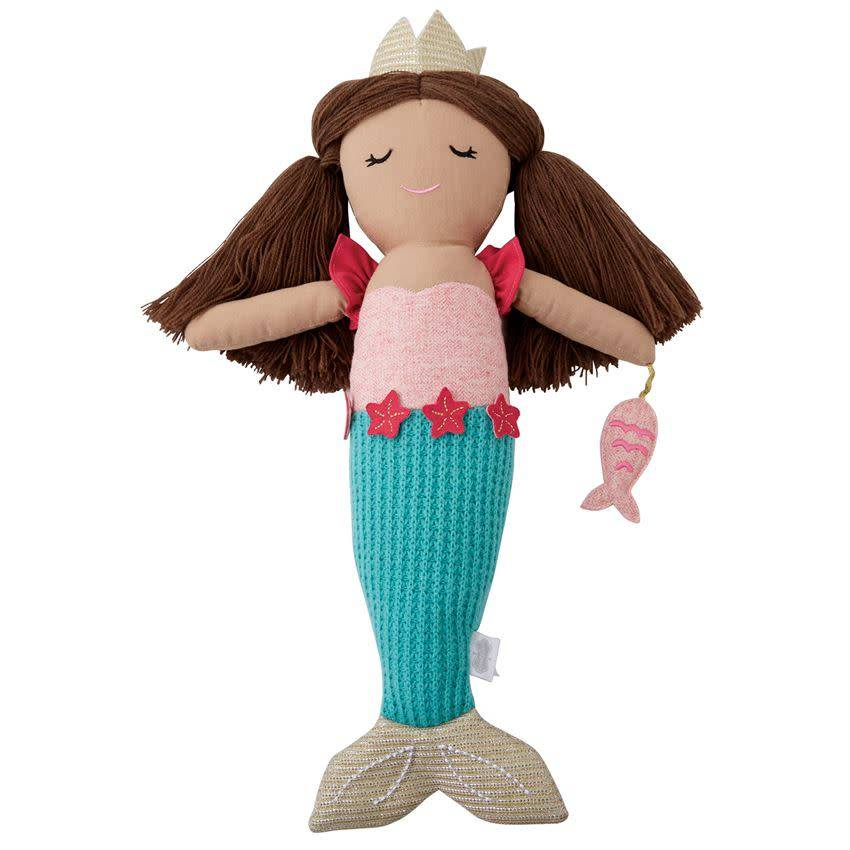 Mud Pie Mud Pie Linen Mermaid Doll