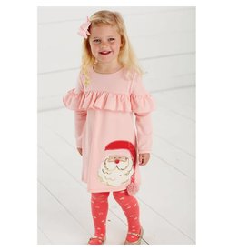 Mud Pie Mud Pie Santa Dress and Tights Set