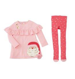 Mud Pie Mud Pie Santa Dress and Tights Set - Baby