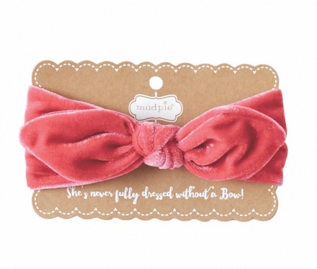 Mud Pie Velvet Bow Headband - Little Options b3e47771bcc