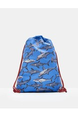 Joules Joules Rubber Drawstring Bag Blue Sharks