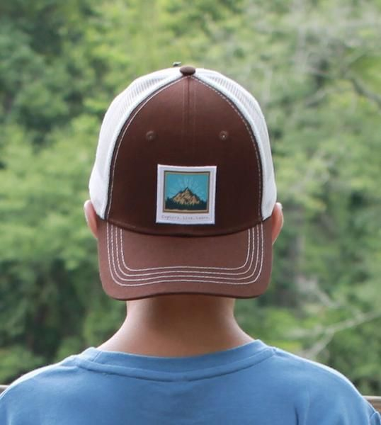 Youthful Cotton Youthful Cotton Explore,Live, Learn Trucker Hat - Brown