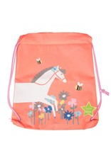 Joules Joules Rubber Drawstring Bag Pink Horse