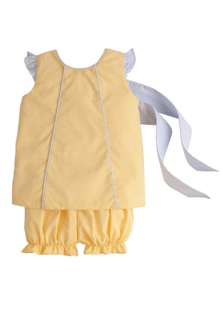 Little English Little English Bow Back Bloomer Set