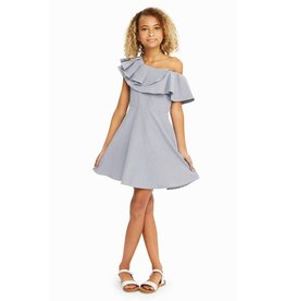 Habitual Girl Habitual Girl Lou Ruffed Striped Dress