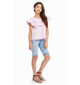 Habitual Girl Habitual Girl Sasha Pleated Flounce Top