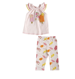 Mud Pie Mud Pie Popsicle Tunic & Capri Set