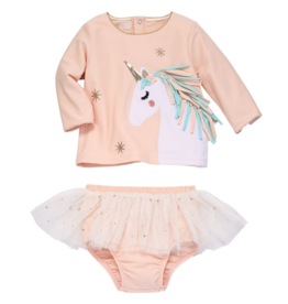 Mud Pie Mud Pie Unicorn Rash Guard Set