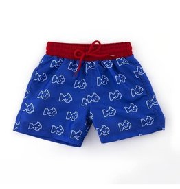 Prodoh Prodoh Fish Print Swim Trunk