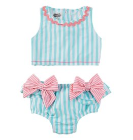 Mud Pie Mud Pie Aqua Bow 2 pc Swimsuit