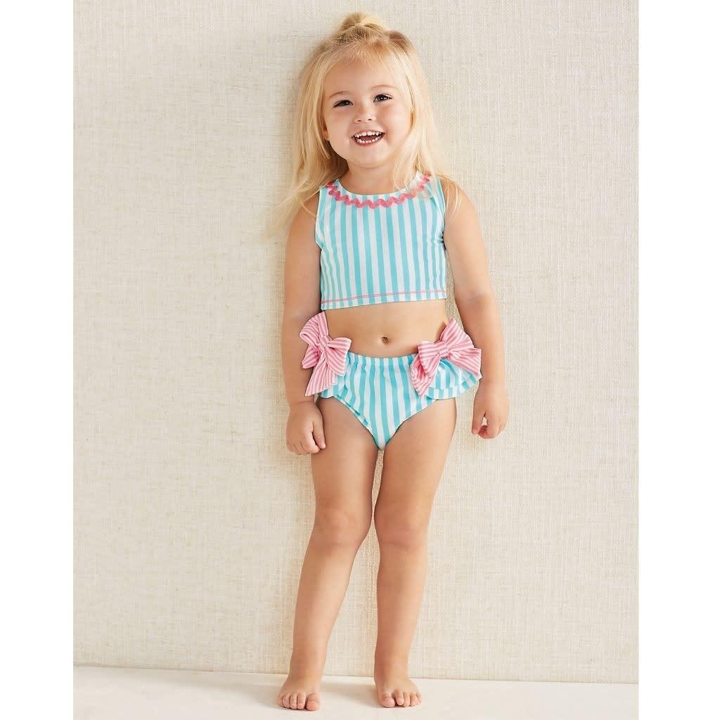 Mud Pie Mud Pie Aqua Bow 2 pc Swimsuit