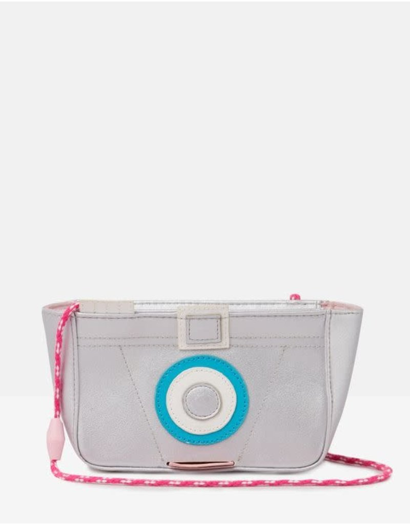 Joules Joules Krista Novelty Bag - Silver Glitter Camera